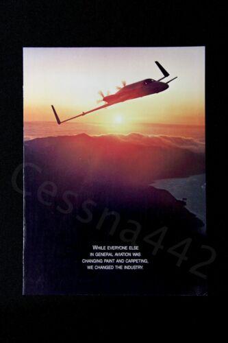BEECHCRAFT Vintage STARSHIP Brochure Fold Out Art Poster RARE USA N1556S Gift