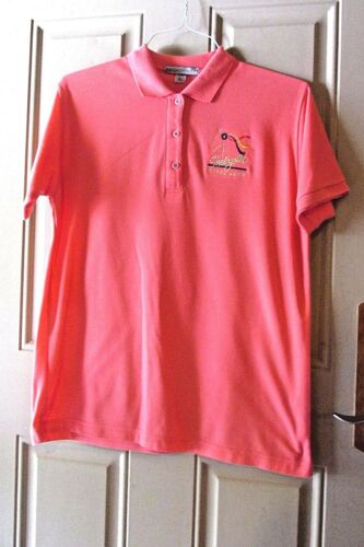 Port Authority Shelbyville Horse Show Ladies Polo Shirt Size L Coral