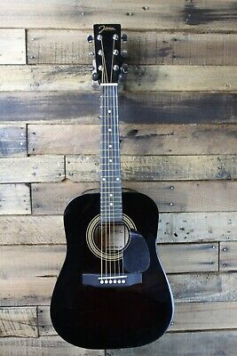 Johnson JG-610-BL  1/2 Size Acoustic Guitar, Black #R5528