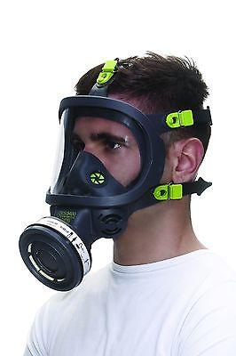 Atemschutz-Vollmaske Modell 3150 mit Panoramascheibe und DIN Anschluss