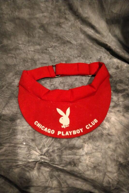 Chicago Playboy Club-Golf Visor- Red--NEW!