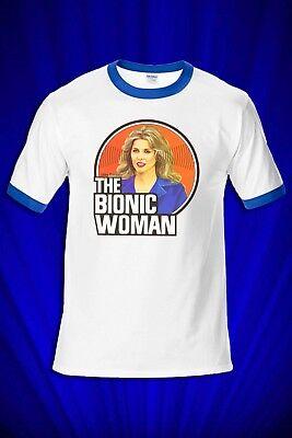 Bionic Woman 1970s TV T-SHIRT FREE SHIP USA Lindsey Wagoner - 1970 Mens Clothes