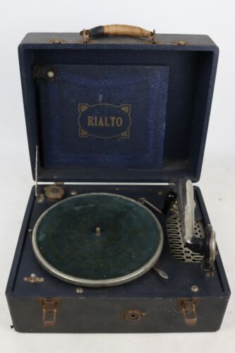 Vintage Rialto New-Phonic Phonograph Portable Record Player - Tested/Working
