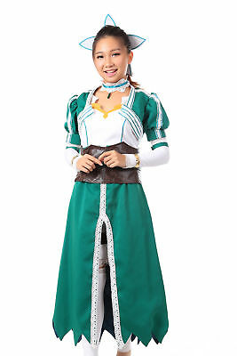 Sword Art Online Cosplay Costume Leafa, Sugu Kirigaya Suguha Wind Fariy Outfit (Fariy Costume)