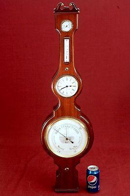 Vintage Barometer, Thermometer, Clock, Kienzle WEATHER STATION! Germany!!