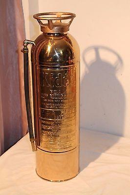 Kidde Foam Brass Fire Extinguisher Polished