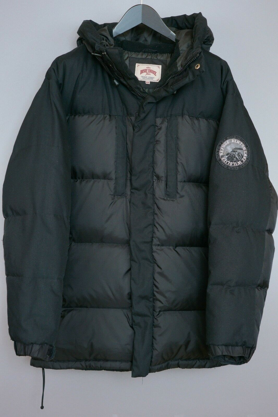 Herren Henry Choice Jeans Jacke mit Daunen Gefüllt Wandern Camping Außen XXL