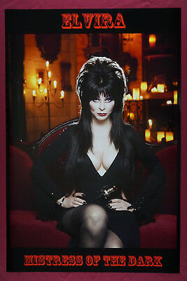 Elvira Mistress of Dark Horror Queen of Halloween Movie Poster 24X36 New  ELVH - Queen Of Halloween Elvira