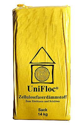 Zellulose-Schüttdämmung-Fussboden-Unifloc-Wärmedämmung-Einblasdämmung 14kg Sack
