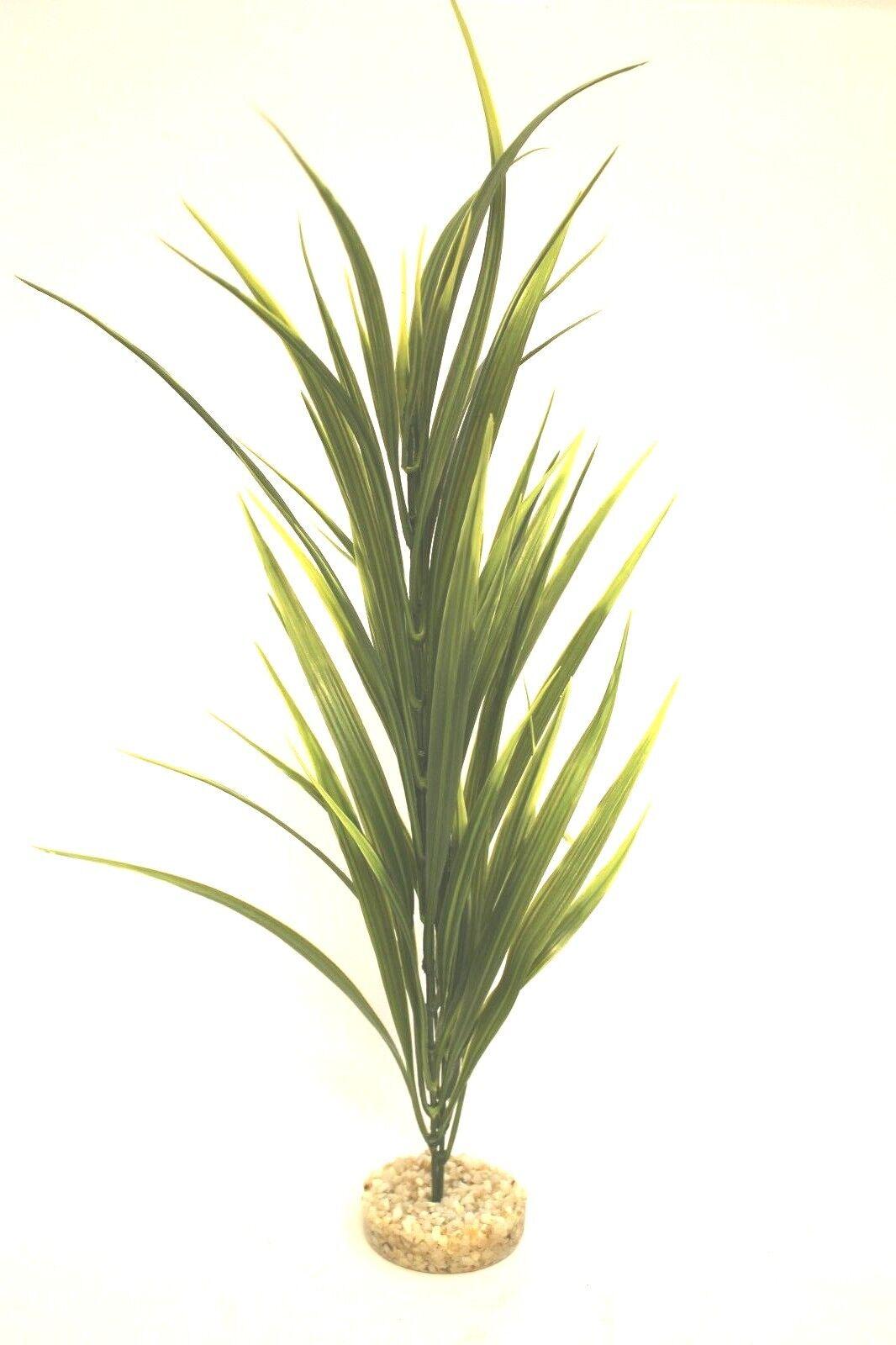 Wasserpflanze Plastik Aquarium Kunststoff Höhe 48 cm Kies Fußunterteil Plant