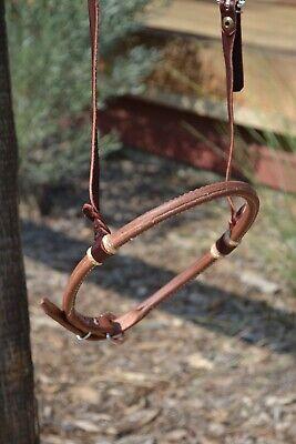 "Jose Ortiz 1//2/"" Latigo Bosal Noseband Hanger Natural//Turquoise Rawhide Self-tie"