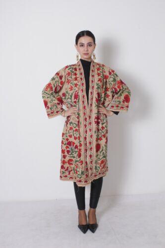 Uzbek Original Hand Embroidery Vintage Suzani Jacket Robe Dress SALE WAS $209.00
