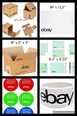 Ebay Branded Shipping Supplies Kit Boxes Padded Mailers Tape 43 Pieces