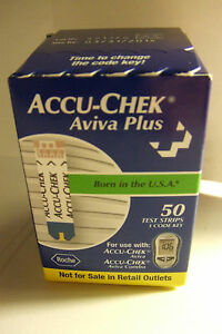 50 AccuChek AVIVA Plus DIABETIC Blood glucoseTEST STRIPS  FASTshipping
