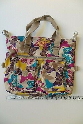 Kipling Butterfly Double Pocket Travel Crossbody Weekend Bag EUC
