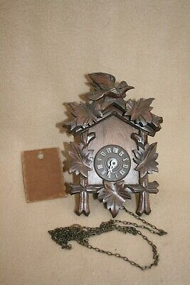 SMALL VINTAGE GERMAN BLACK FOREST CUCKOO TYPE WALL CLOCK FOR SPARES