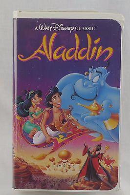 Walt Disney Classic Aladdin Black Diamond VHS Tape #1662 Print Date 8-10-93