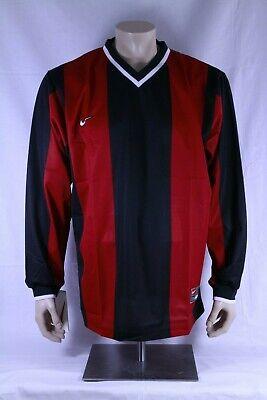 Nike Trikot Langarm schwarz/ rot gestreift Oldschool Saison 2000 Hertha BSC NEU ()