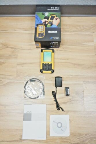 Topcon Fc-236 Data Collector With Topsurv V. 8.2 Robotic Total Station Gis