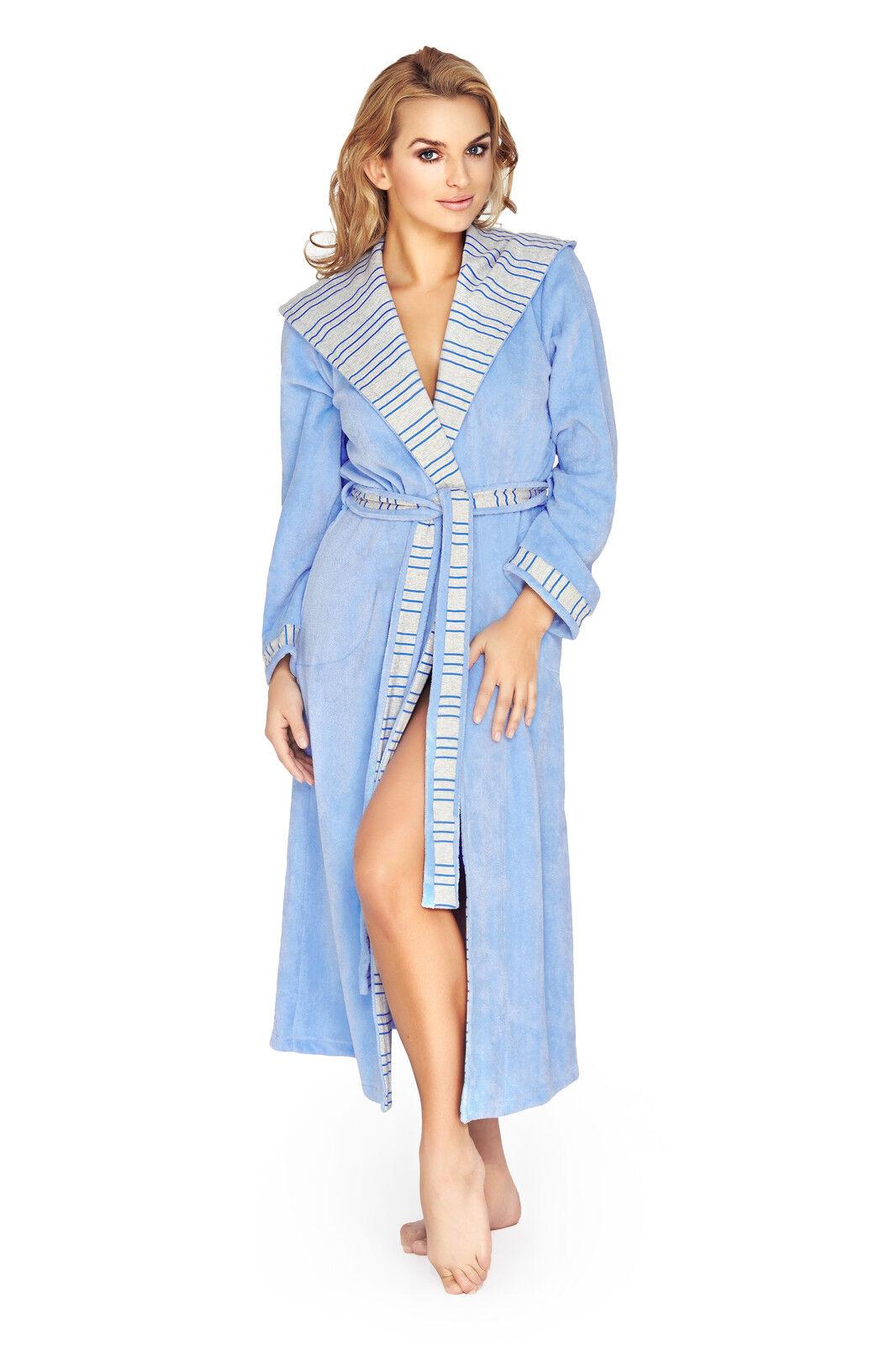 Women s Luxury SOFT Cotton Bath Robe Housecoat Dressing Gown Bathrobe S M L  XL 8ab7becc5