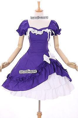M-3132 lila Gothic Klassik Stretch Lolita Kleid & Rock Set Cosplay Kostüm dress