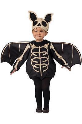Premium Skele-Bat Skeleton Bat Child Boys Girls Costume NEW