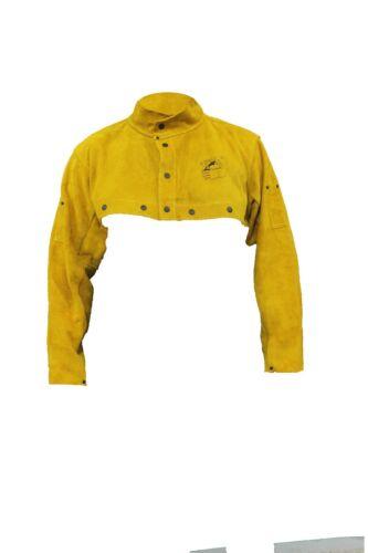 GLOVES CASTLE WS-502 Premium Leather Welder Cape Sleeves(L/XL/2XL)Welder Safety