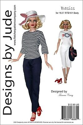 Basics Doll Clothes Sewing  Pattern for 16.5