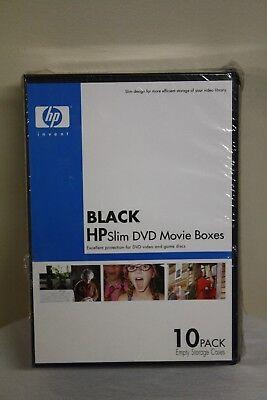 Hp Black Slim Dvd Movie Boxes 10 Pack Empty Storage Cases