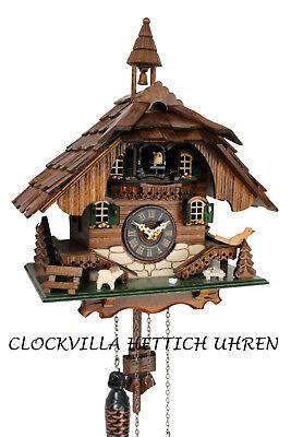 Schwarzwälder Kuckucksuhr Glockenturm Schwarzwaldhaus Quarzwerk Schindeldach