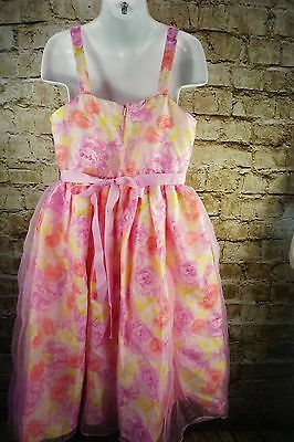 NWT The Childrens Place Dress Roses Easter Spring Summer Fancy Pageant Party SZ8