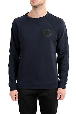 Versace Collection Men's Navy Blue Crewneck Long Sleeve Sweatshirt