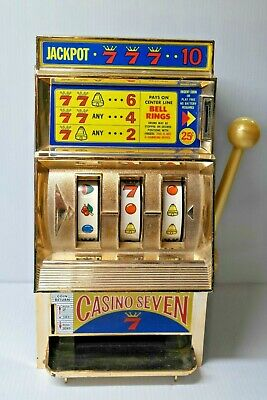 Vintage Waco Jackpot Casino 7 Seven Slot Machine Toy