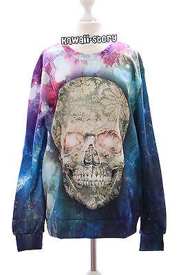 TY-F1331 Skull Totenkopf Punk Gothic Fantasy Sweatshirt Pullover Harajuku Punk Skull Sweatshirt