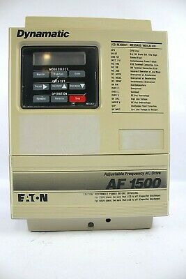 Eaton Dynamatic Af1500 Adjustable Frequency Ac Drive