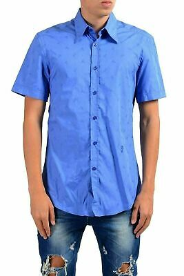 "Versace Collection ""Slim"" Men's Blue Short Sleeve Dress Shirt US 15.75 IT 40"