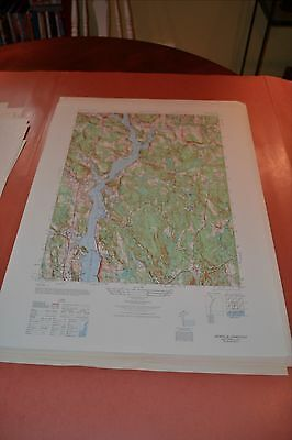 1940's Army (like USGS) topographic map Uncasville Connecticut -Sheet 6566 I NE