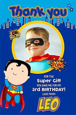 Personalised Birthday Thank You Cards Superhero x 5](Superhero Thank You Cards)
