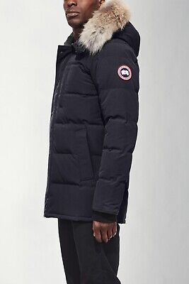 Canada Goose Carson Hooded Packable Parka Genuine Coyote Fur Trim - Navy - S Coyote Hooded Parka