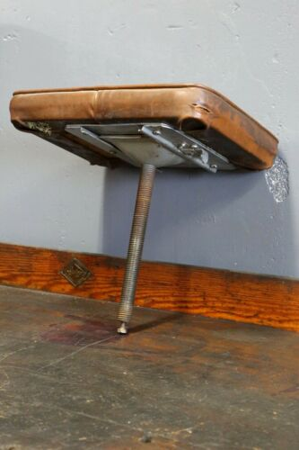 Vintage Industrial Swing Out Stool Seat Only Crank swivel adjustable drafting