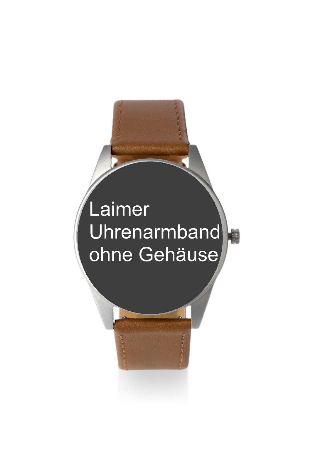 Laimer Uhrenarmband, Armband 20 mm Breit Dornschließe braun f Modell 74 78 76