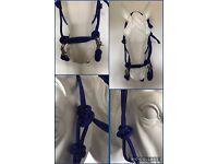 Rope Halter With Reins,Bitless Bridle,Parelli  Horsemanship PINK Cob// Full