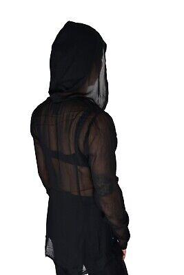 TRIPP NYC BLACK METAL GOTHIC WITCH PUNK CORSET SHEER HOODIE BLAZER JACKET VL4956 Activewear