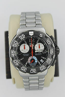 Tag Heuer CAC1110.BA0850 Formula One Black Chronograph Watch Mens Mint Crystal
