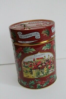 1999 Aachen Lambertz Iced Gingerbread Cookies Music Tin Christmas Scene Germany ()