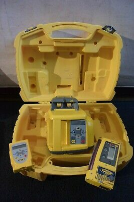 Trimble Spectra Precision Dual Slope Laser Model Gl422 Remote And Cr600 Detector