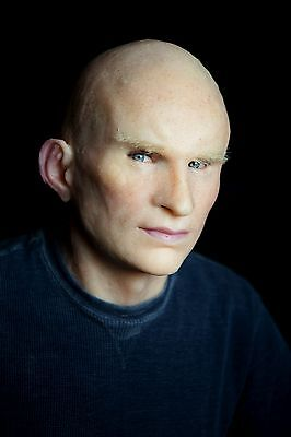 """Silicone Mask Young Man """"Hans"""" Hand Made, Halloween High Quality, Realistic,"""