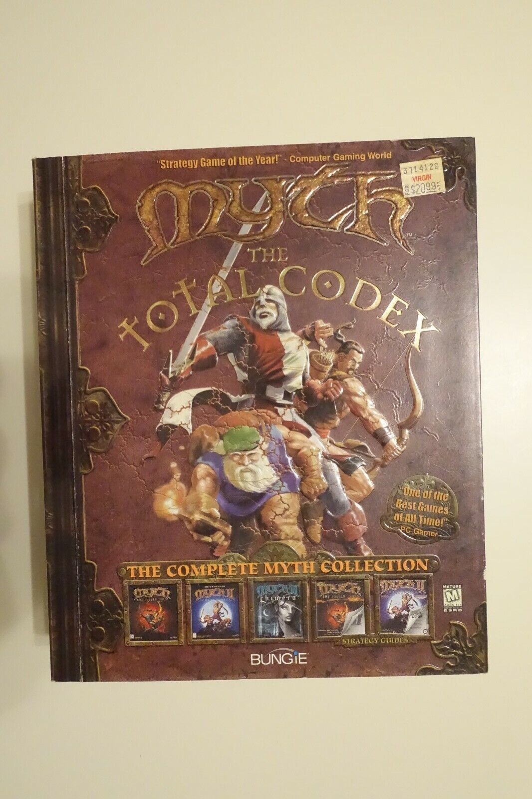 Computer Games - Myth The Total Codex PC-CDROM Computer Game 3 CD Set w/ Original Manual BIG BOX