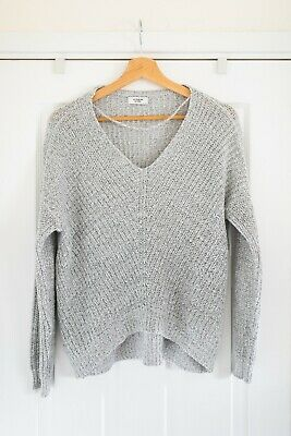 ASOS Jacqueline De Yong Grey Small Loose Fitting Knit Jumper Size 8 / 10