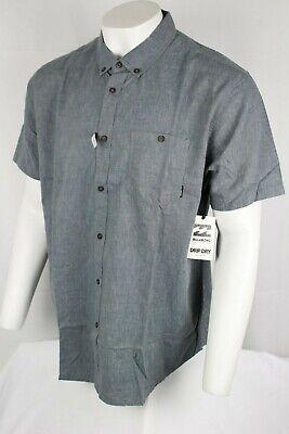 Billabong Men's All Day Short Sleeve Woven Shirt Drip Dry XL or 2XL Dark Royal